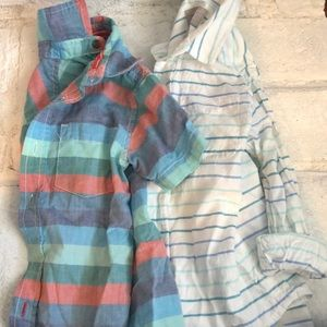 Lot of 2 Toddler Boy Button-Down Shirts